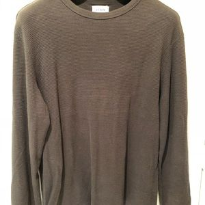 Like new dark brown long sleeve waffle tee